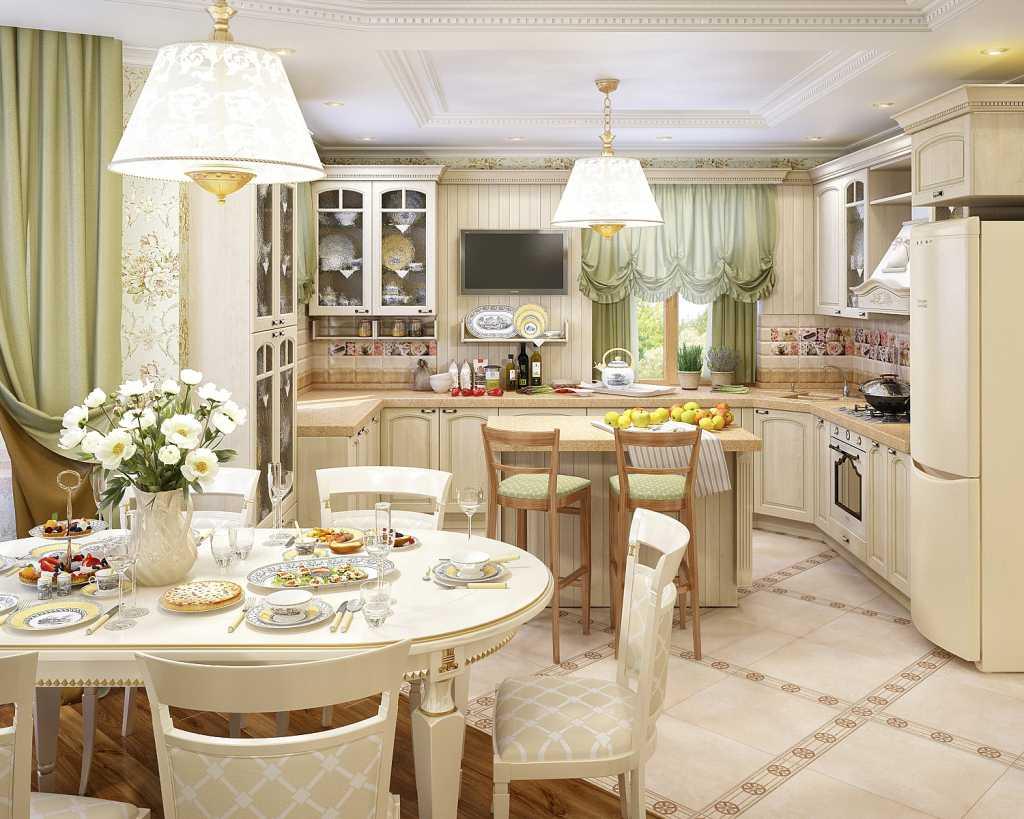Кухня+столовая