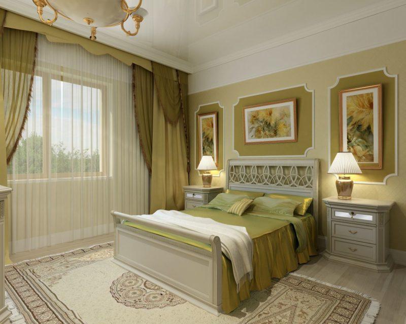 Спальня: как выбрать шифон для окна
