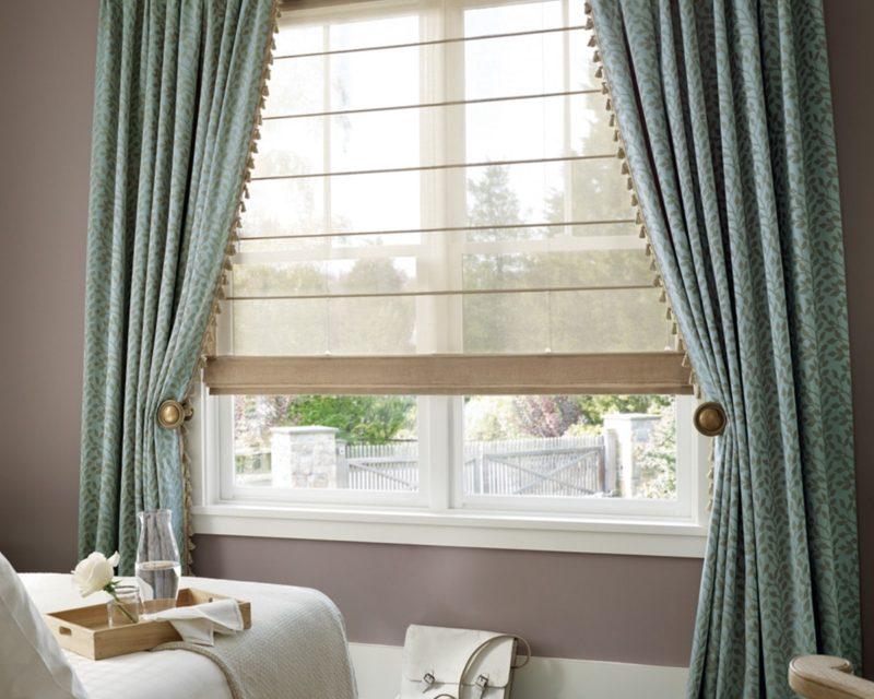 Красивые шторы для подоконника удобство для спальни