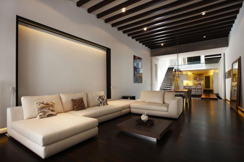 Дизайн потолка: балки как элемент дизайна