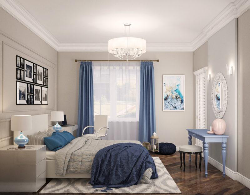 Спальня: выбор штор для окон