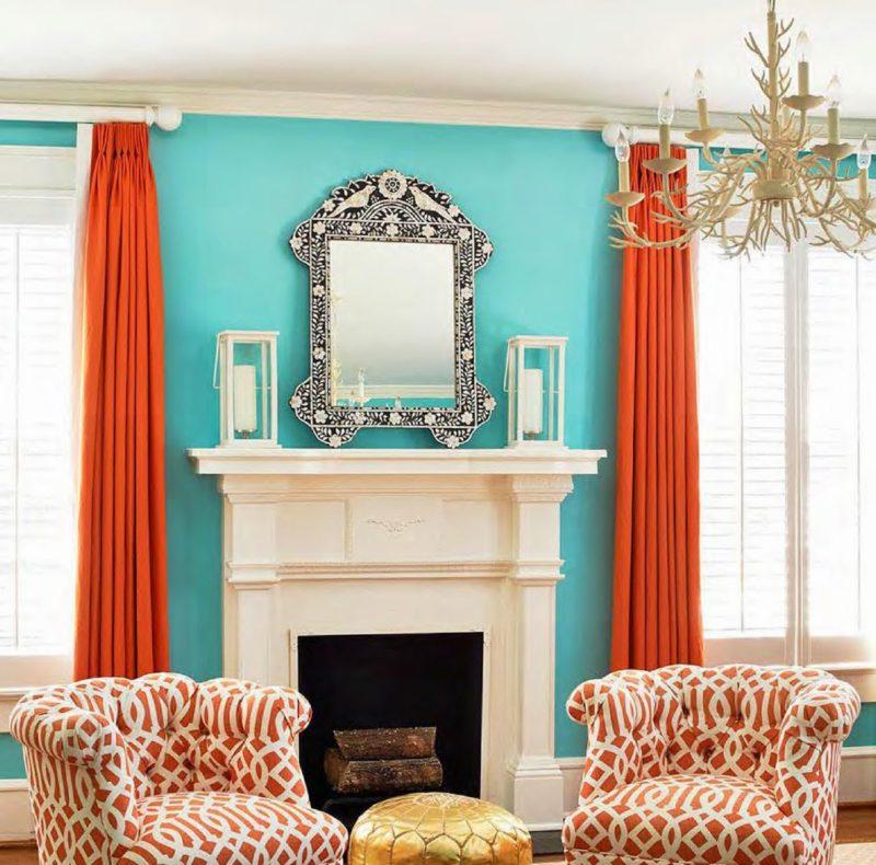 Красивые шторы на два окна в гостиную