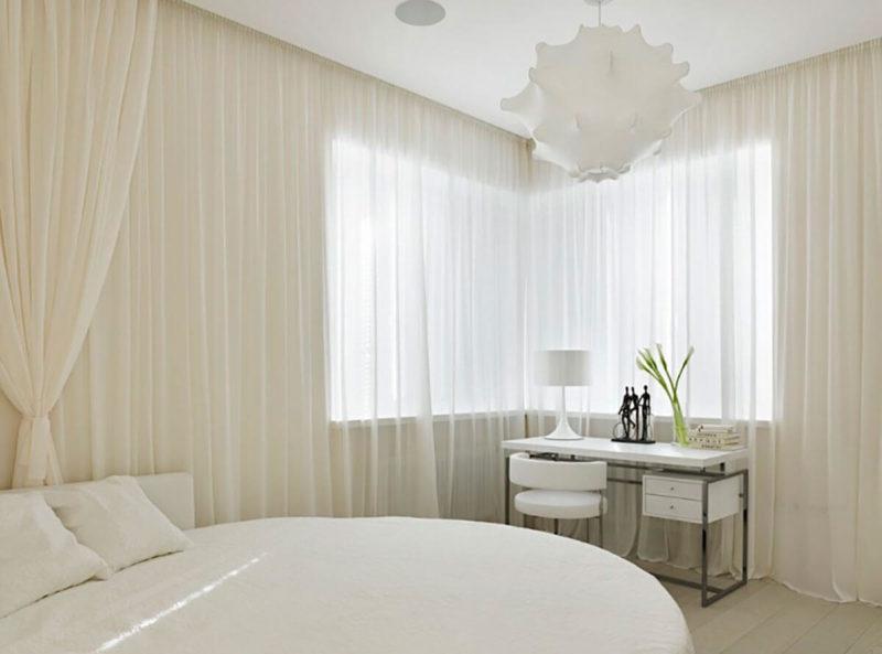 Спальня: какой выбрать тюль