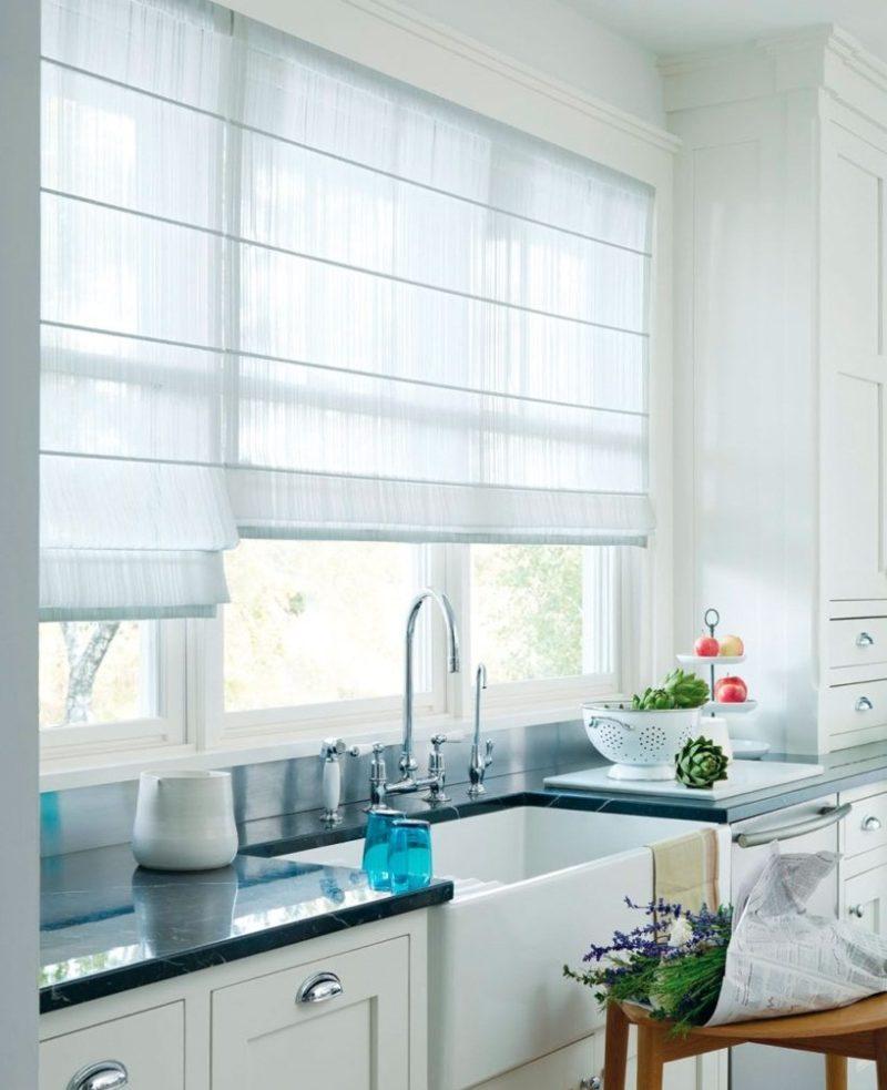Рулонные шторы: правила декора