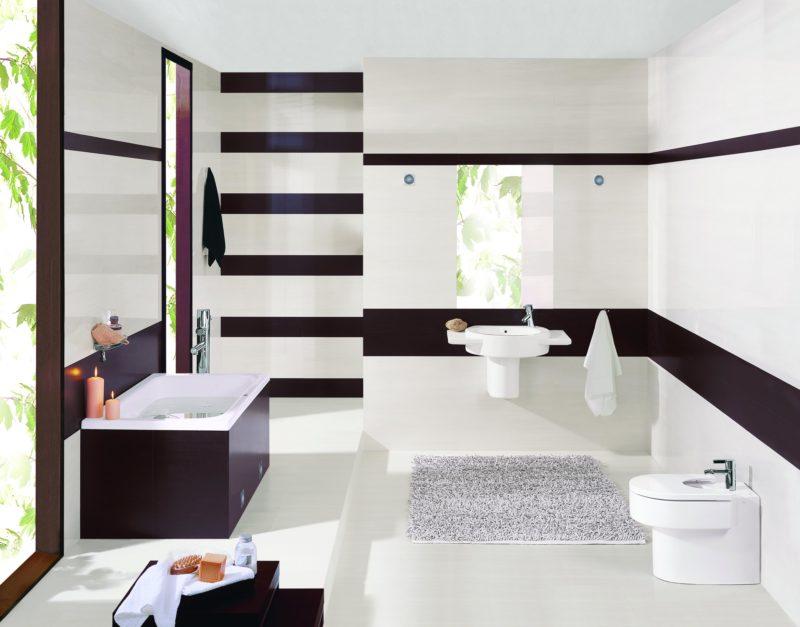 Ванная комната: покраска стен светлой краской