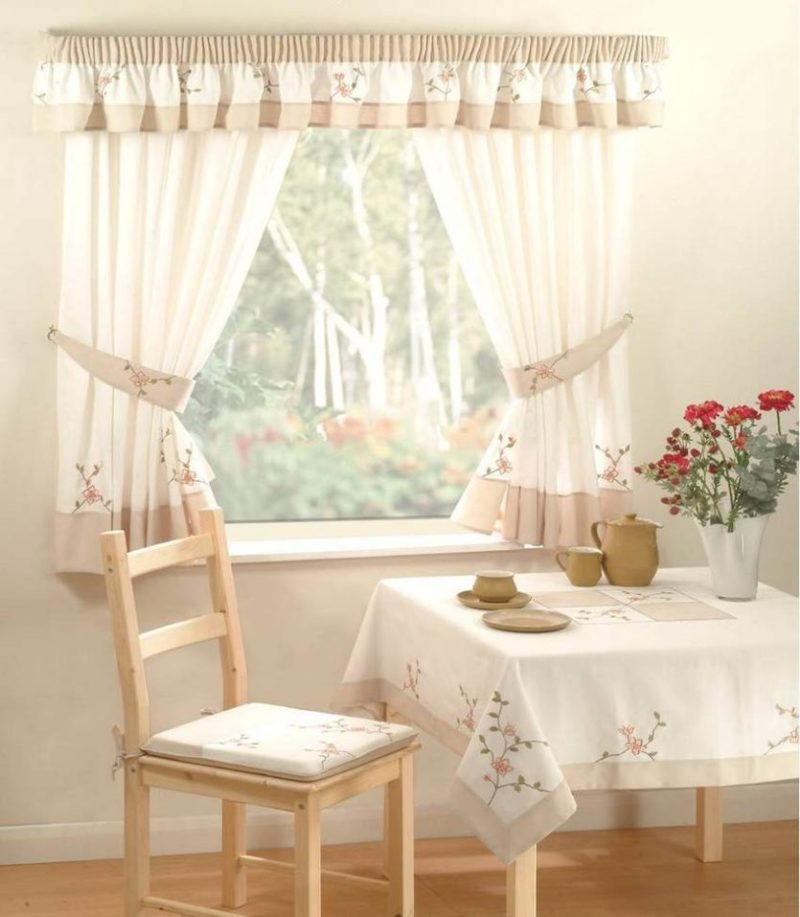 Как выбрать для кухни короткие шторы