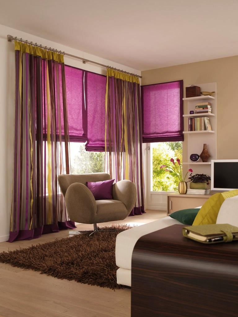 Шторы в гостиную на два окна: индивидуальный дизайн