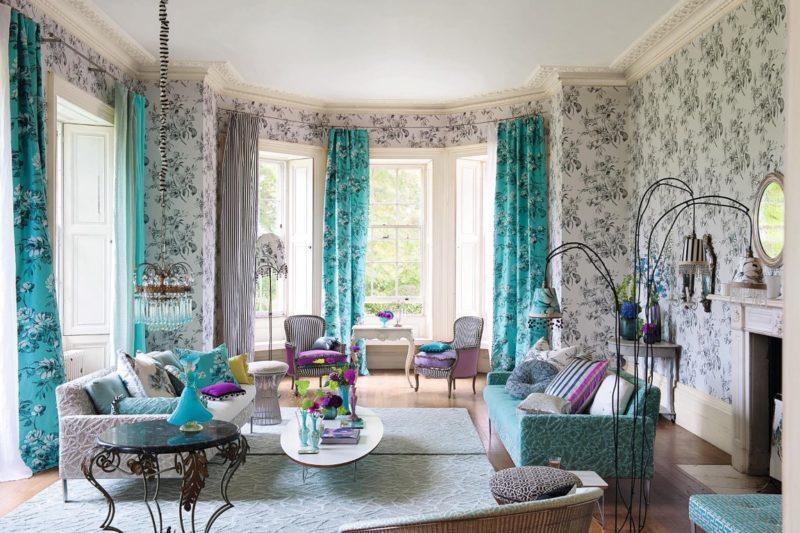 Гостиная: идеи в декоре интерьера шторами в различном стиле
