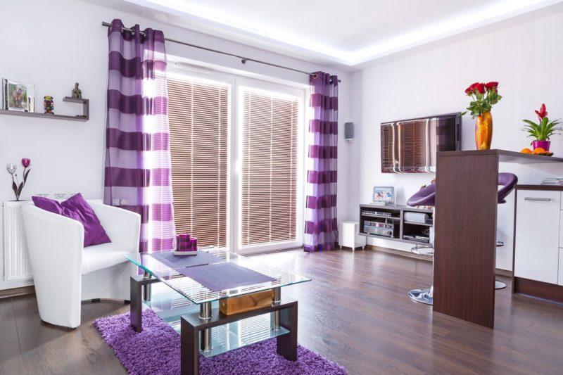 Смешивание фиолетового цвета с другими цветами