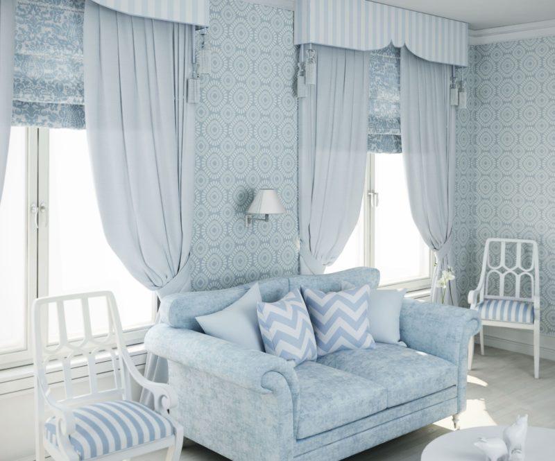 Как выбрать в гостиную короткие шторы