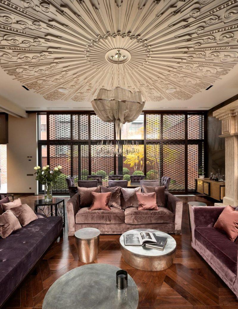 Дизайн потолка: стиль арт-декор