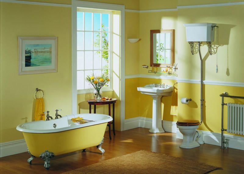 Покраска ванной комнаты в зависимости от стиля