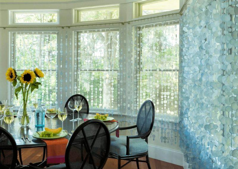Дизайн штор для кухни: украшение своими руками штор