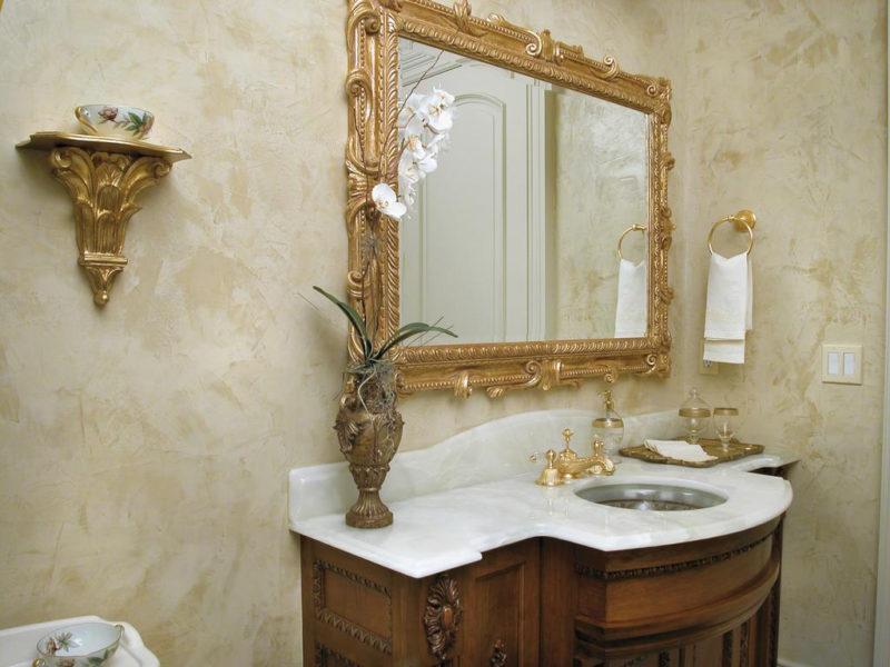Отделка ванной комнаты фактурной краской
